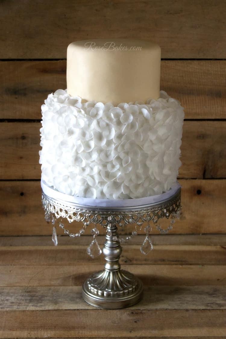 Wafer Paper Petals Cake Back