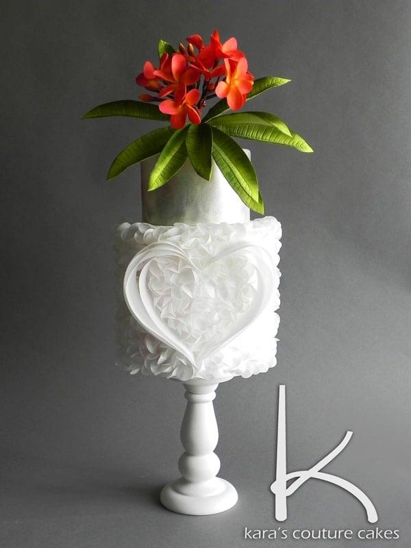 Wafer-Paper-and-Sugar-Plumeria-Cake-2