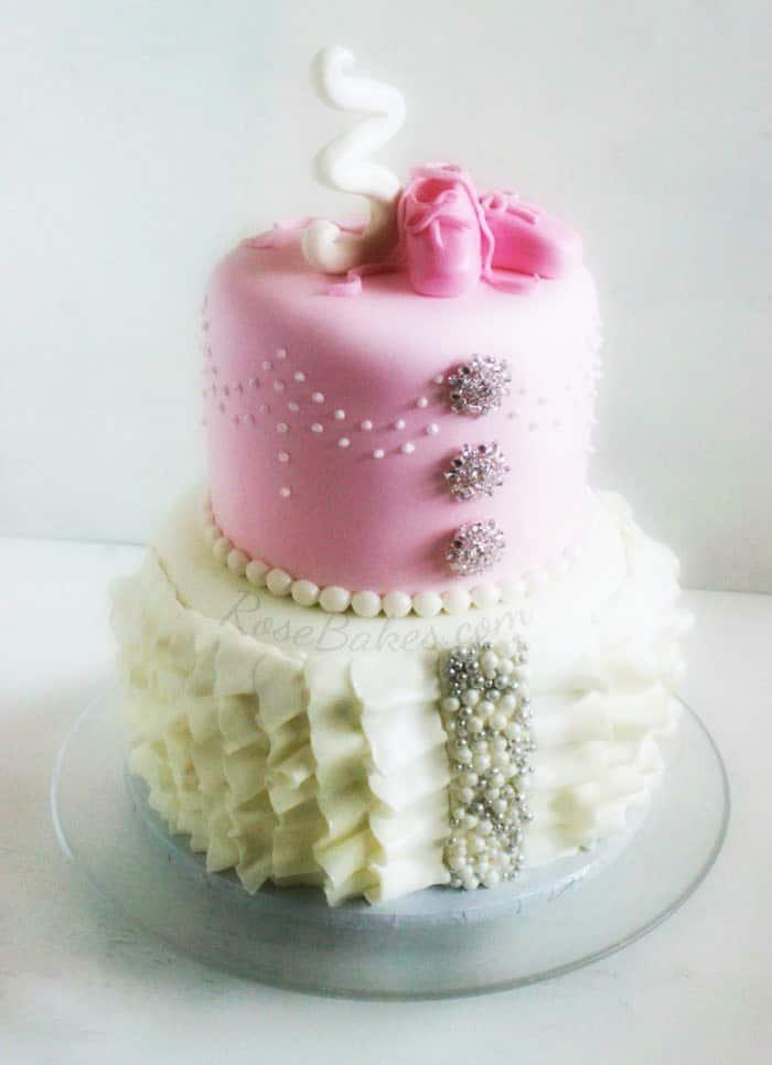 Ballerina Ruffles Bling Cake