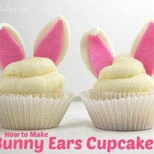 Easter Bunny Rabbit Ears Cupcakes