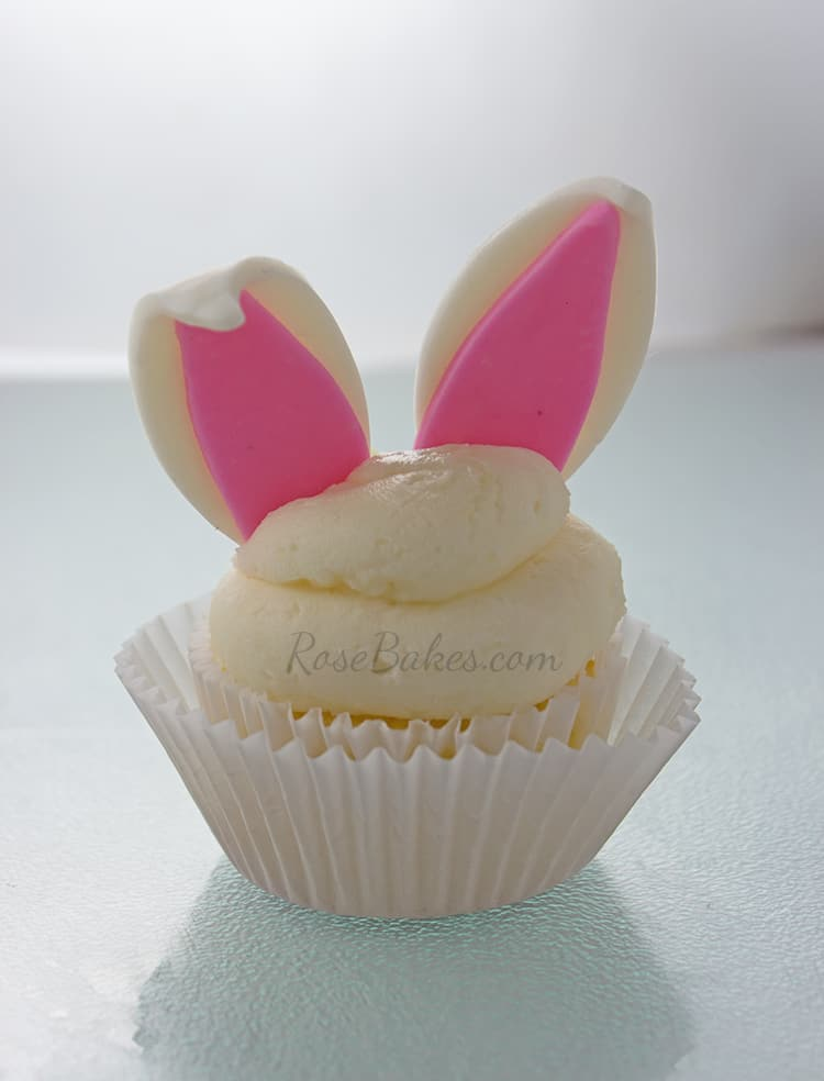 Easter Rabbit Ears Cupcake