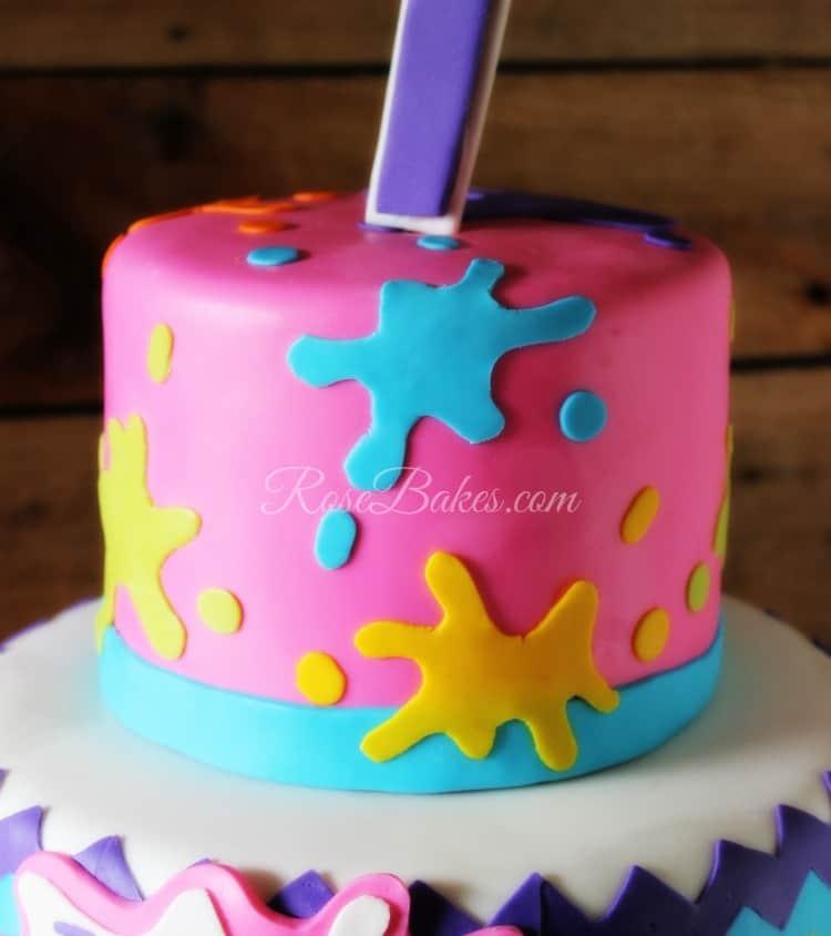 Fondant Paint Splats Cake