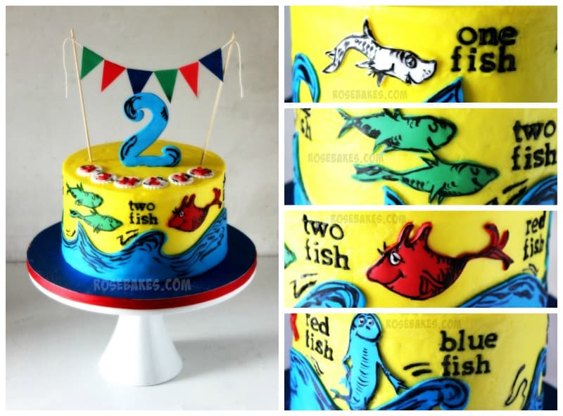 One Fish Two Fish Dr Seuss Cake RoseBakes