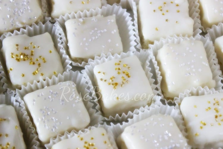 Petit Fours with Gold & Silver Stars
