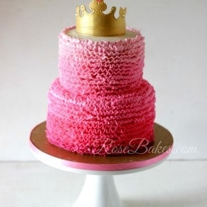 Pimk Ombre Ruffles Princess Cake