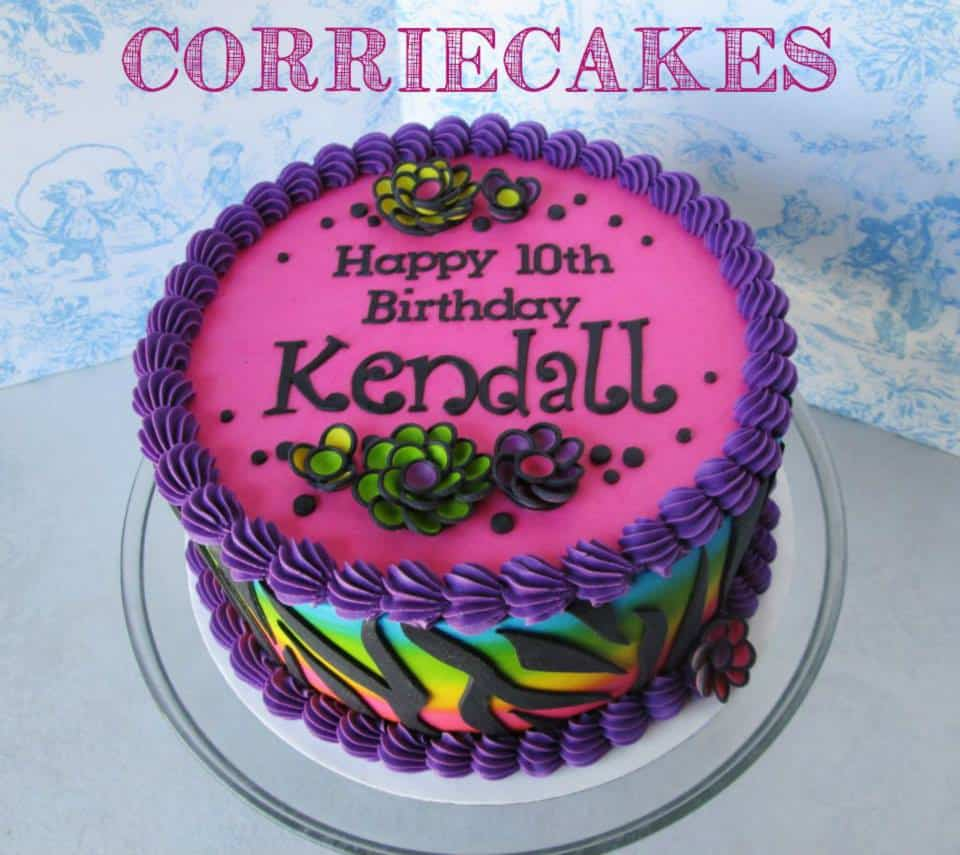 Corriecakes Rainbow Zebra Stripes
