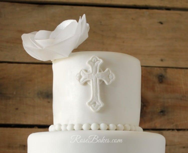 Cross Christening Cake