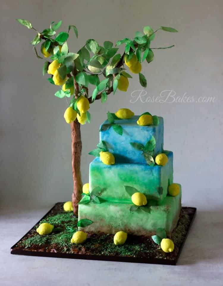 Gardens Of The World Cake Collaboration Lemon Tree Cake