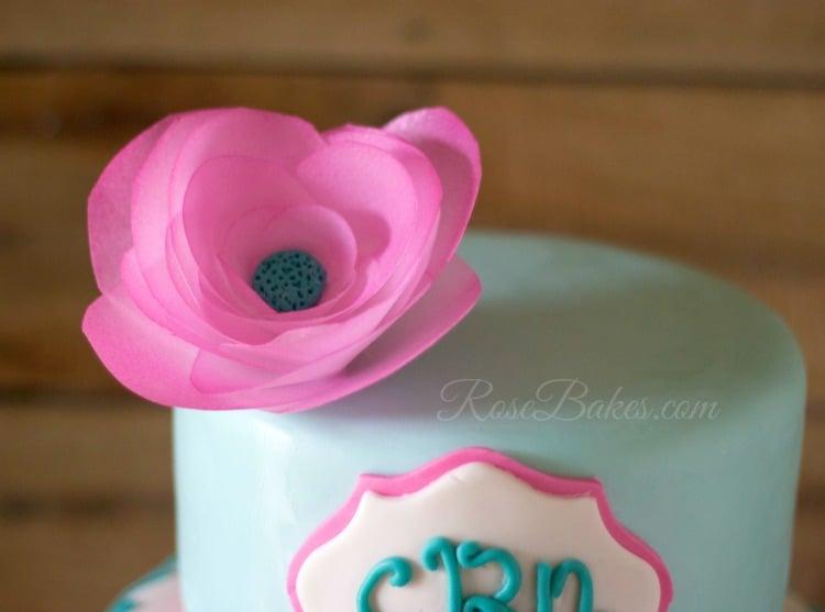 Pink Wafer Paper Flower