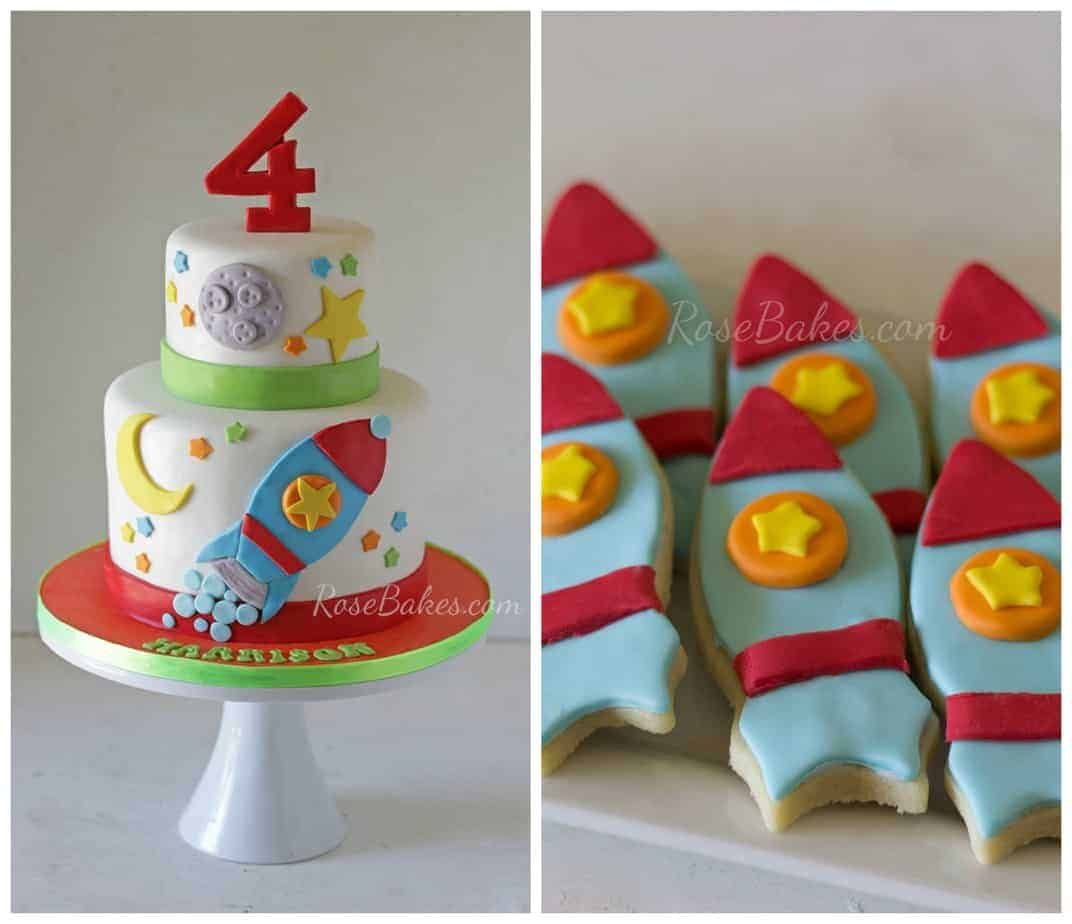 Sensational Were Going On A Trip Plus Rocket Ship Cake And Cookies Rose Funny Birthday Cards Online Overcheapnameinfo