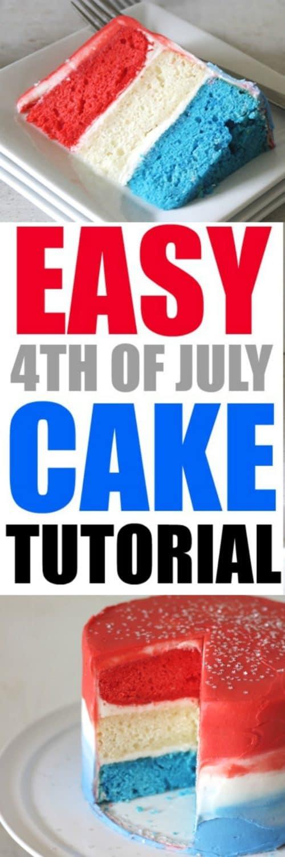 Easy 4th of July Cake Tutorial by RoseBakes