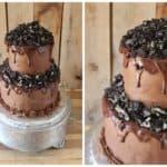 Triple Chocolate & Oreos Groom's Cake