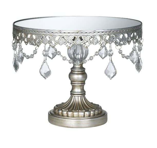 Antique Beaded Cake Stand