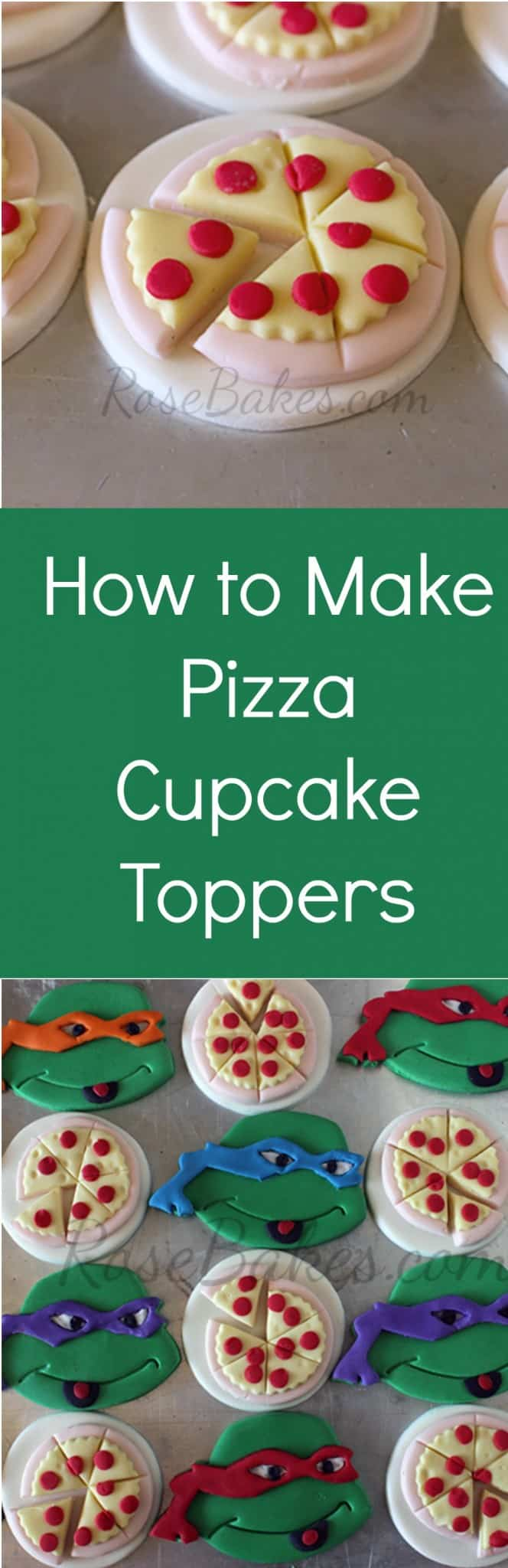 How to Make Teenage Mutant Ninja Turtles Pizza Cupcake Toppers