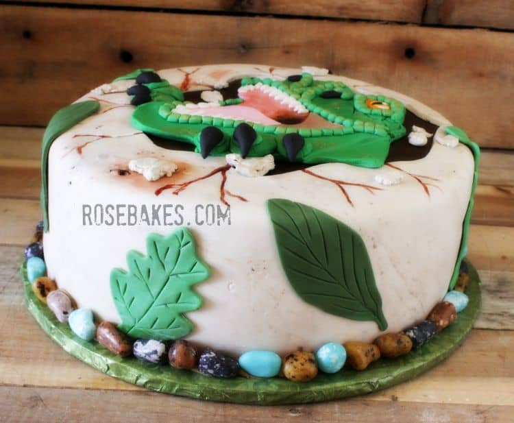 Jurassic World T-Rex Cake