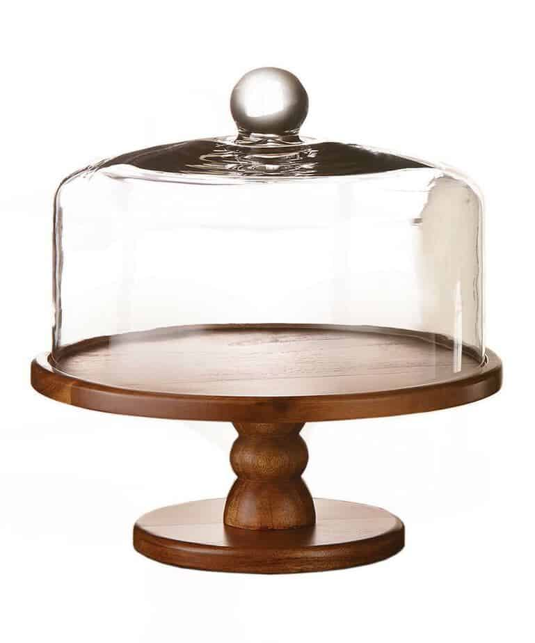 Cake Plate Stand With Dome