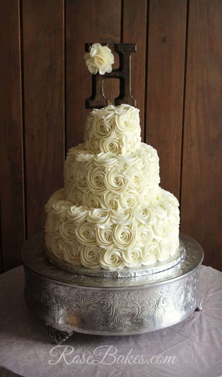 Rustic Buttercream Roses Wedding Cake Rose Bakes