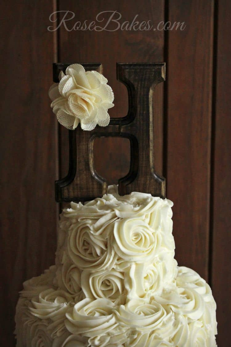 Rustic Wooden Initial Topper