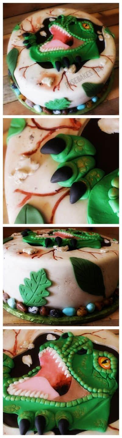 T-Rex Dinosaur Cake by Rose Bakes