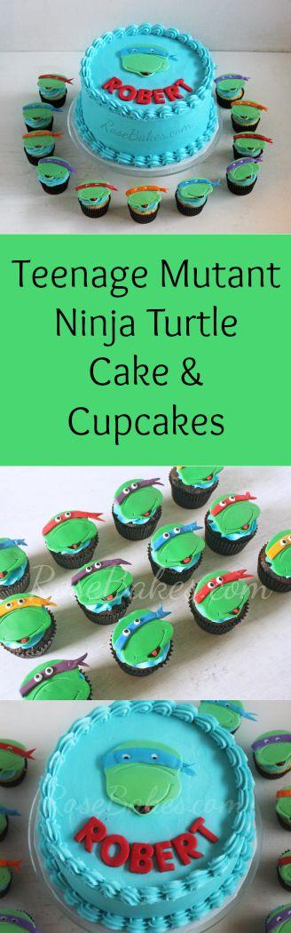 Teenage Mutant Ninja Turtles Cake & Cupcakes