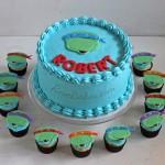 Teenage Mutant Ninja Turtles Cake and Cupcakes