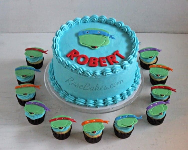 Teenage Mutant Ninja Turtles Cake And Cupcakes Rose Bakes