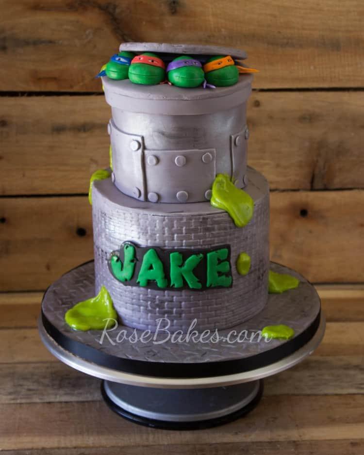 Incredible Teenage Mutant Ninja Turtles Cake And Cupcakes Rose Bakes Funny Birthday Cards Online Bapapcheapnameinfo