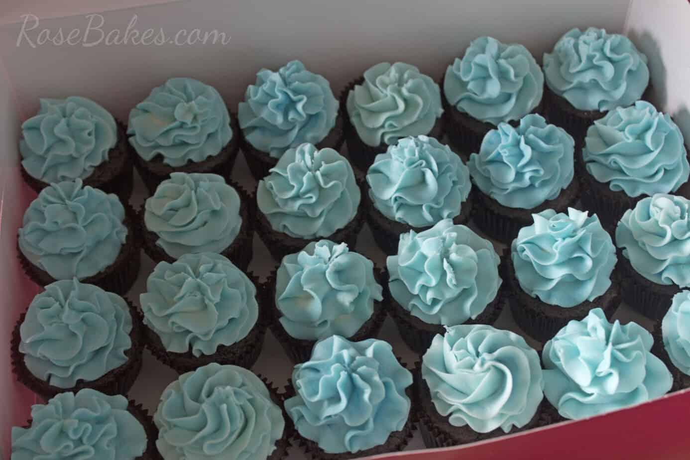 Blue Frozen Cupcakes