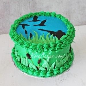 Duck Hunting Birthday Cake