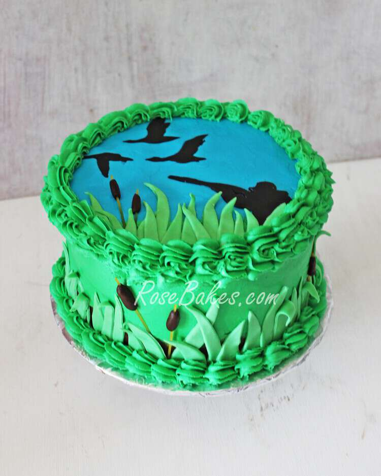 Duck Hunting Birthday Cake