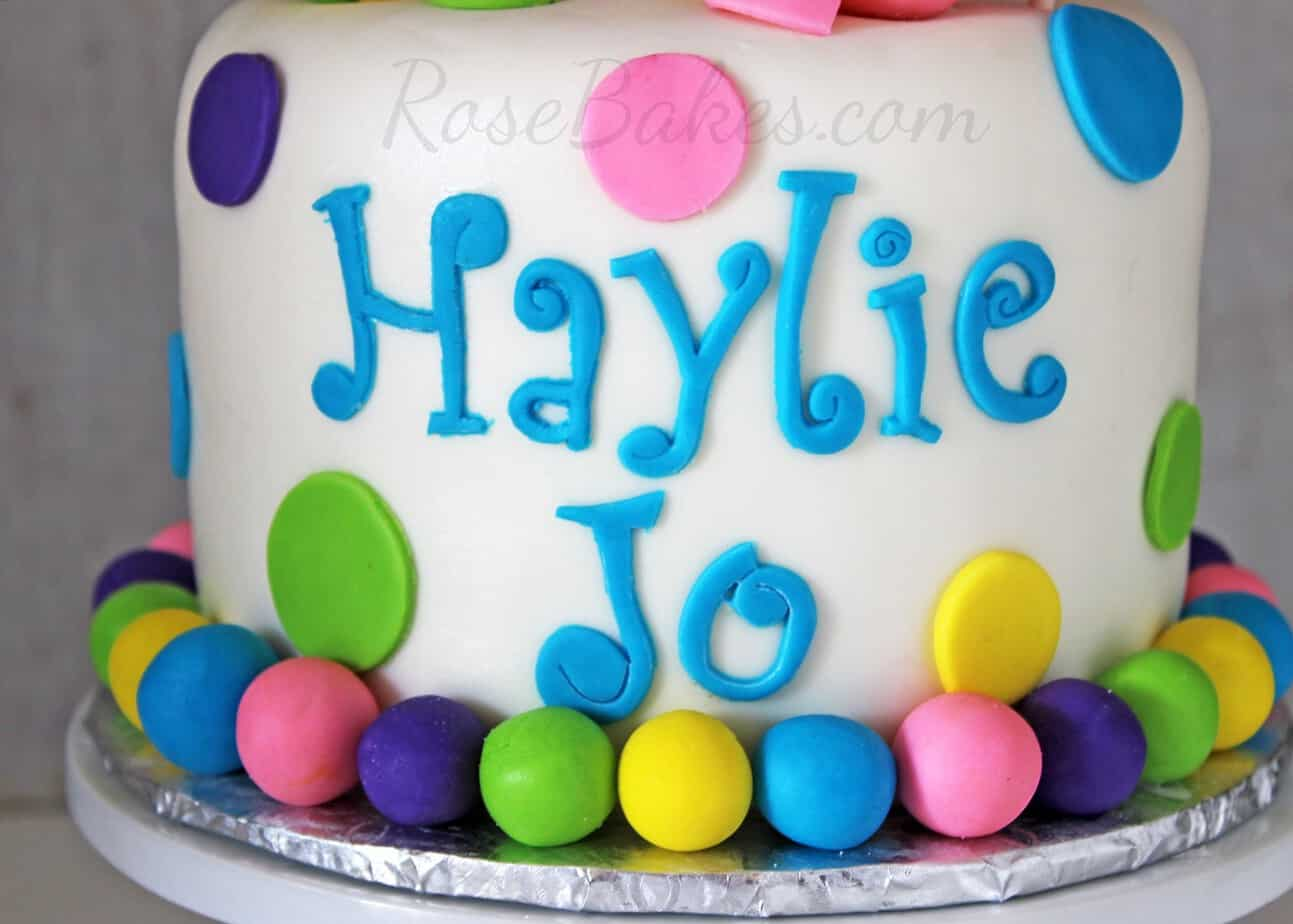 Funky Letters on Cake