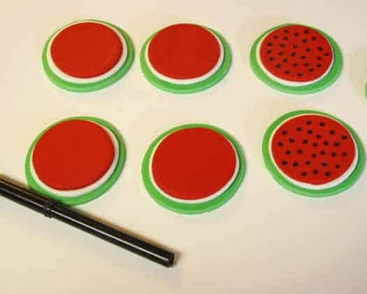 How to Make Watermelon Cupcake Toppers 10