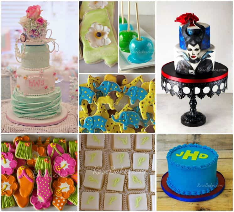 Last Week of August Cakes Cookies Petit Fours Candy Apples