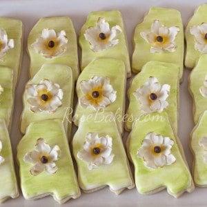 Mississippi Magnolia Flower Cookies