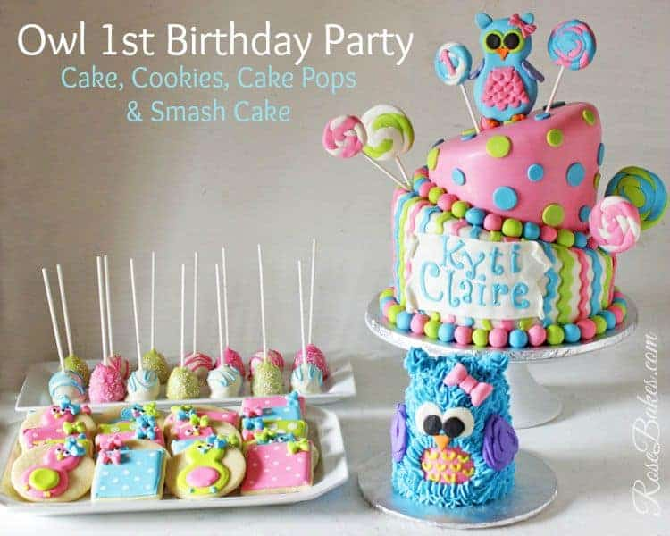 Outstanding Owl Lollipops Party Cake Smash Cake Cookies Cake Pops Personalised Birthday Cards Cominlily Jamesorg