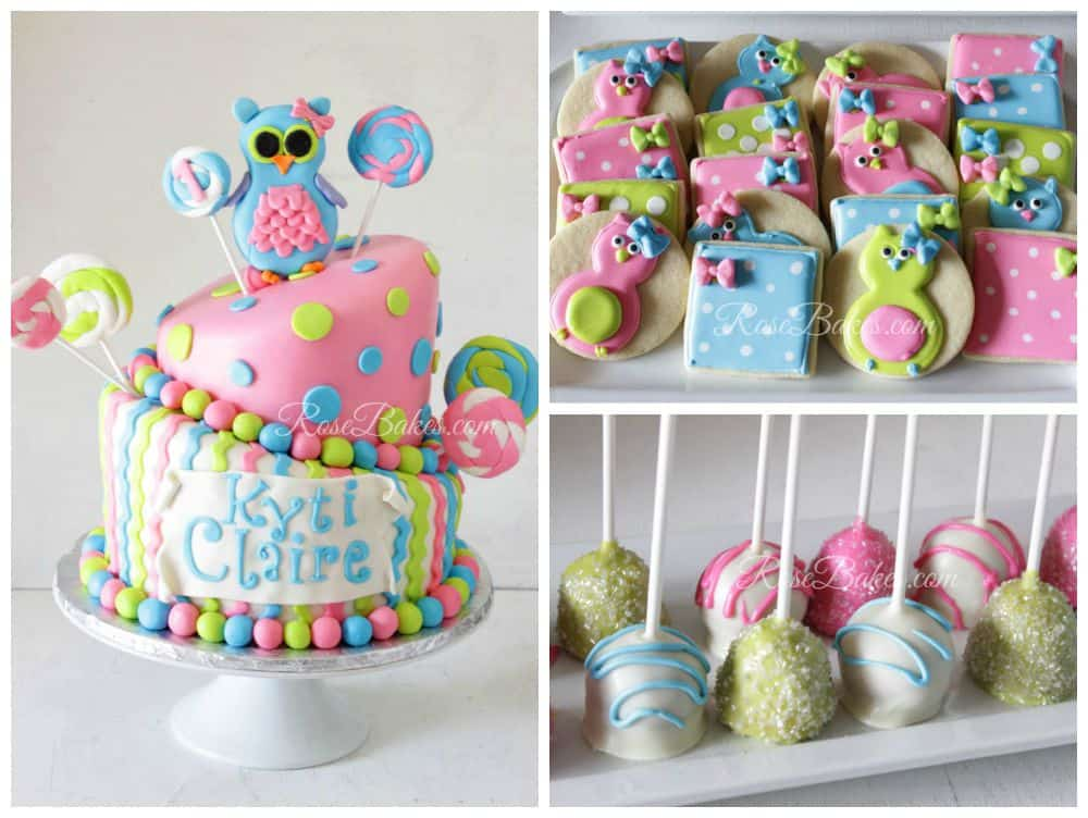 Owl Cake Cookies Cake Pops Party