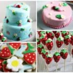 Strawberry Party Cake Cookies Cake Pops