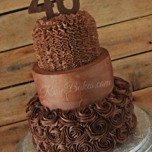 All Chocolate Buttercream 40th Birthday Cake