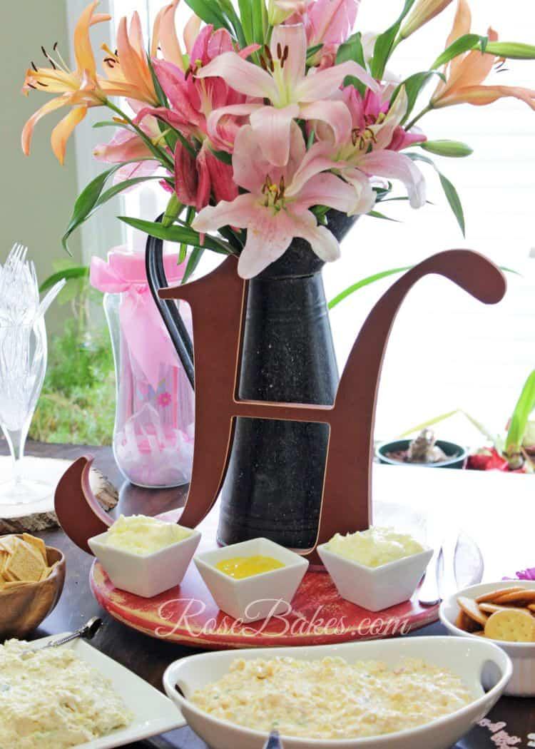 Monogram Table Decorations