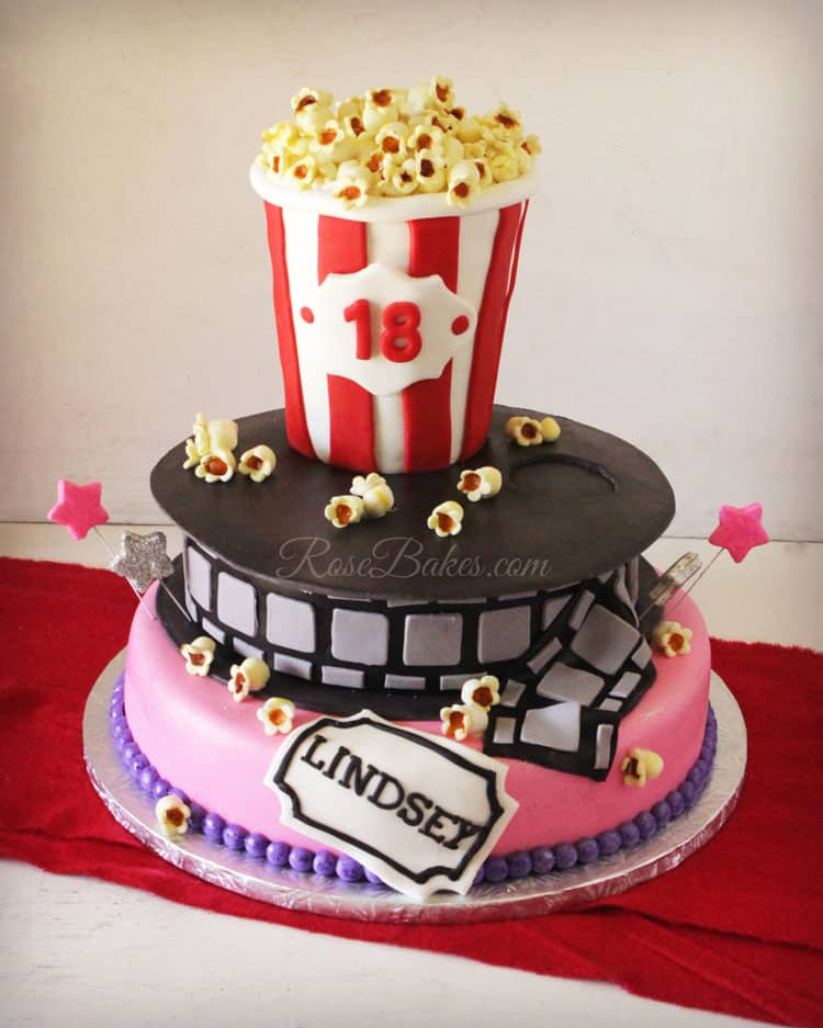 Movie Popcorn Birthday Cake