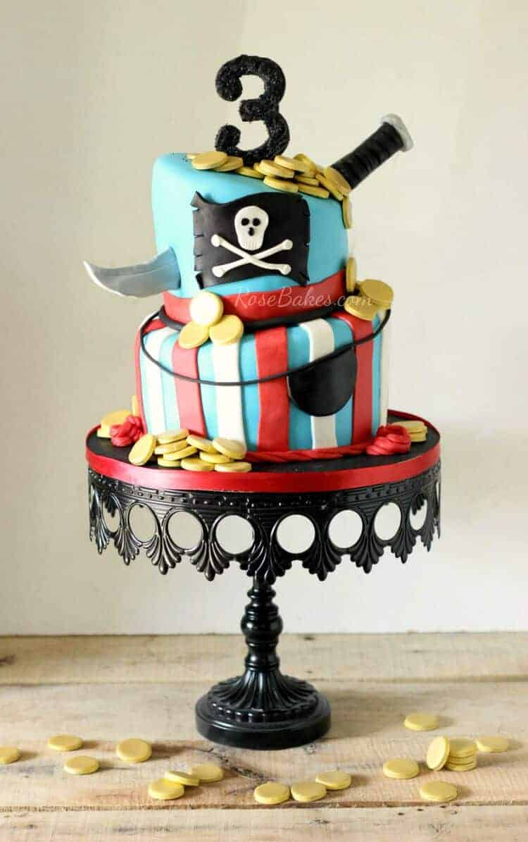 My Weekend Pirate Cake Bright Roses Cake Super Heroes