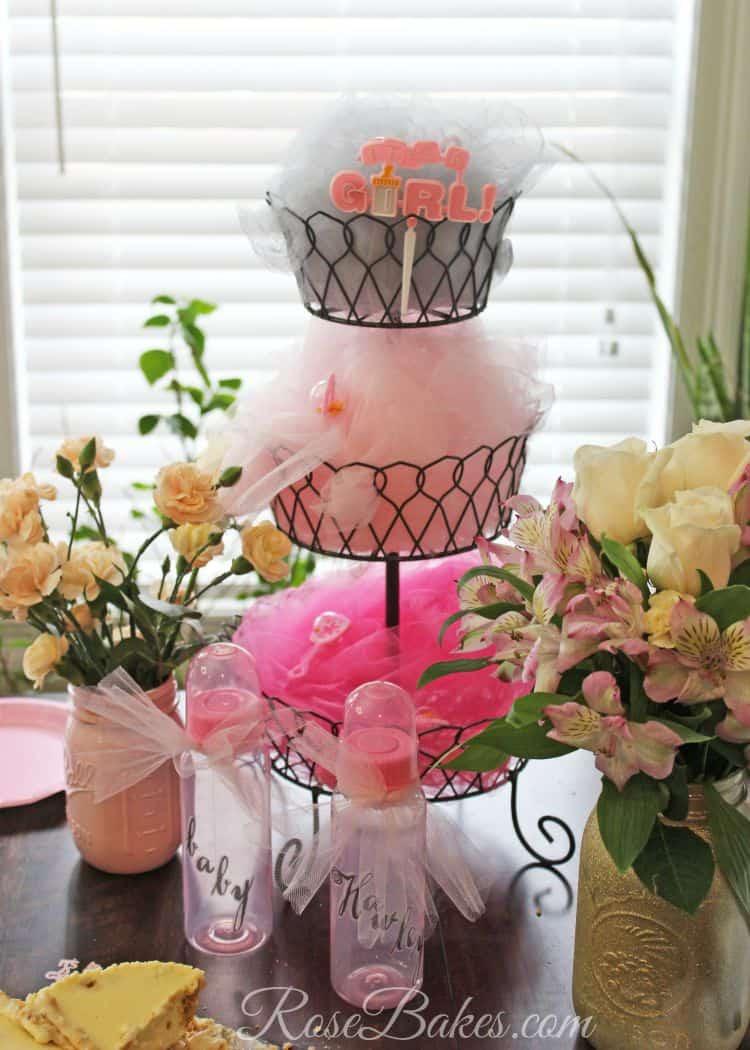 Vintage Pink Amp Sage Ruffles Baby Shower Cake Rose Bakes