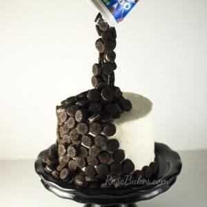 Spilling Mini Oreos Cake