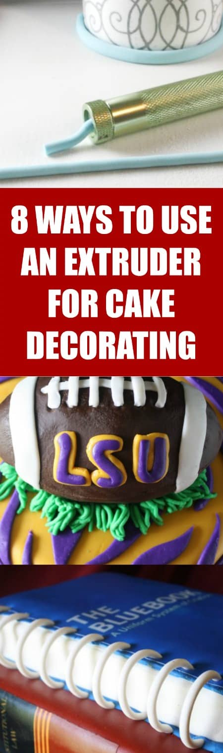8 Ways to Use an Extruder for Cake Decorators