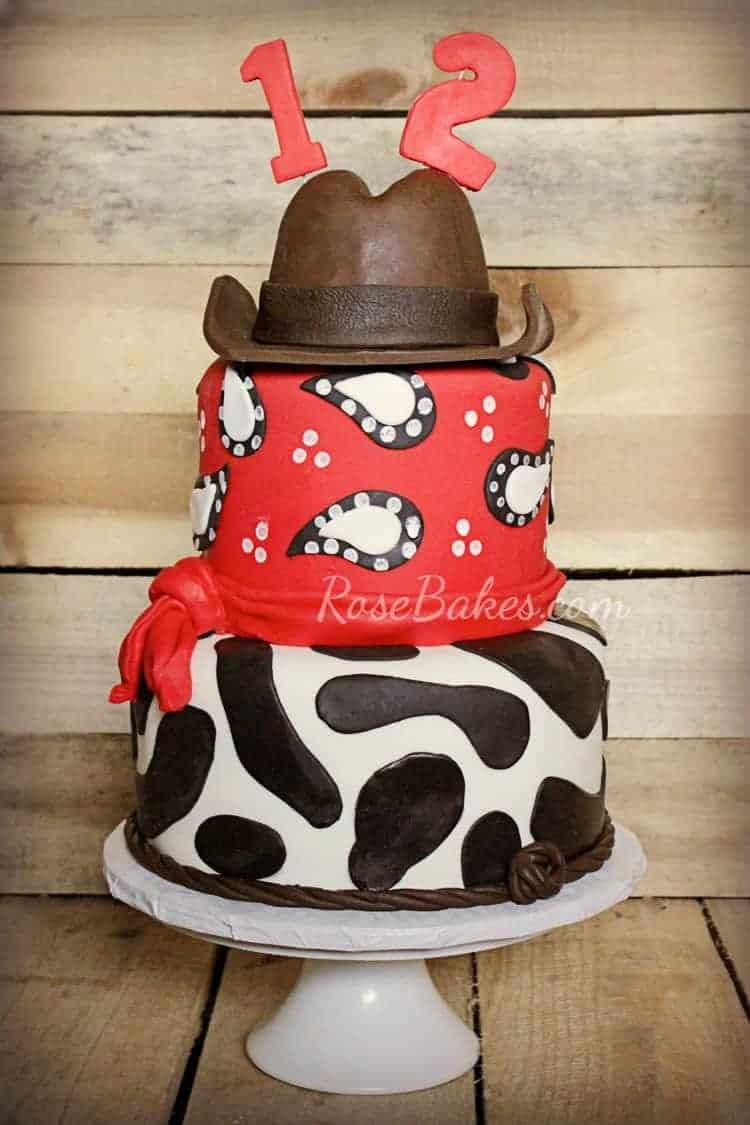 Cowboy Cake And Smash Cakes Rose Bakes