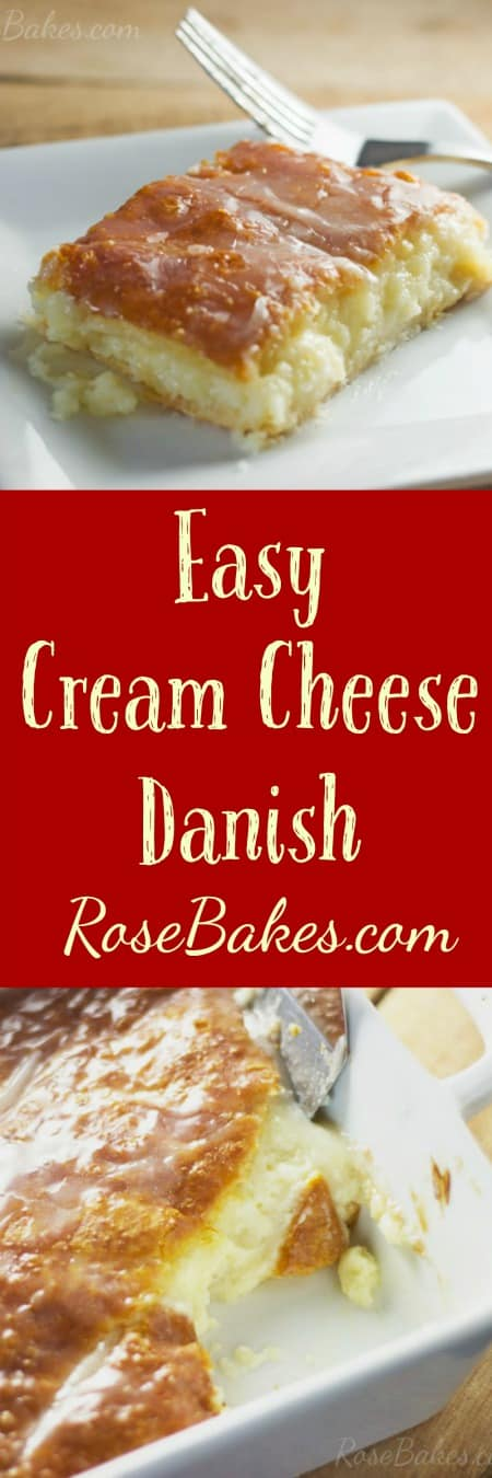 Easy Cream Cheese Danish - Rose Bakes