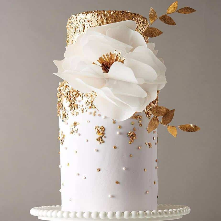 Gold Sequins and Wafer Paper