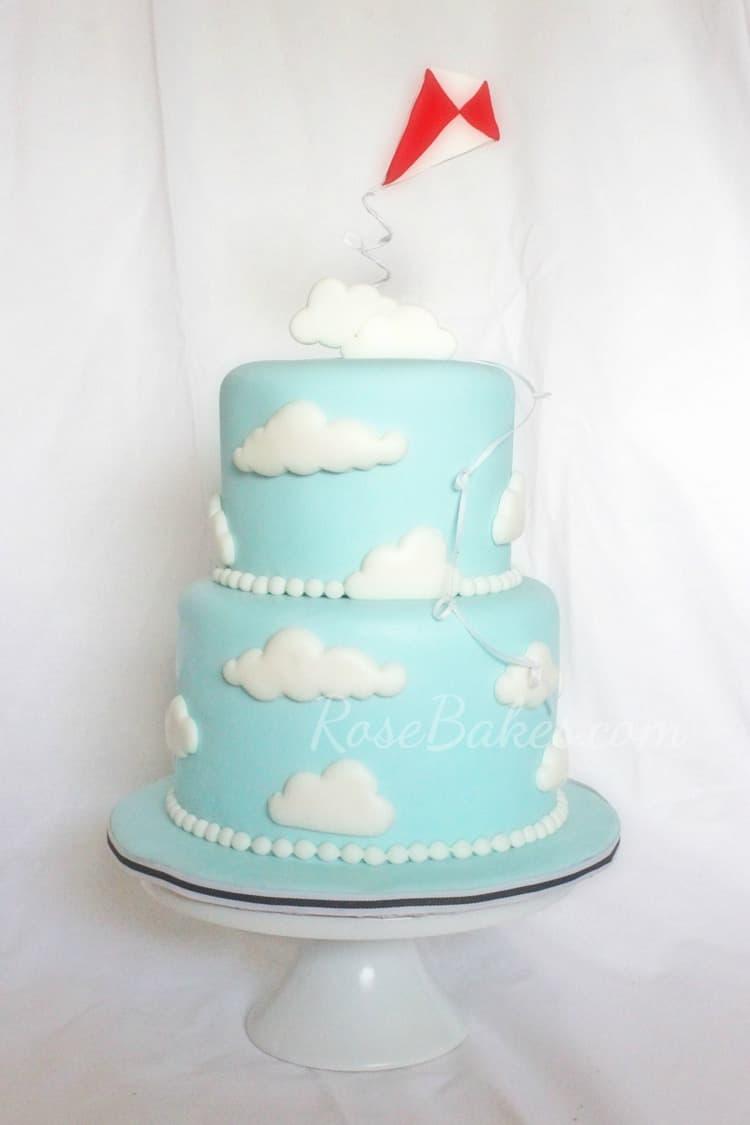 Cloud Birthday Cake