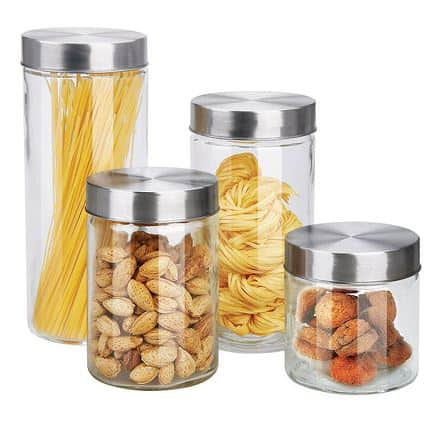 Round Glass Canisters