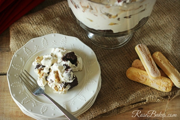Tiramisu Brownie Trifle Dessert